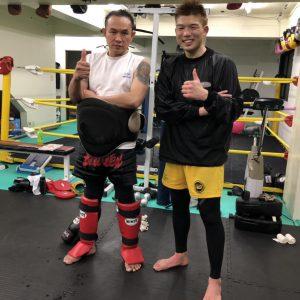 松花征也選手が練習に来てくれました。