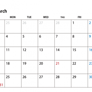 3月休館日のお知らせ