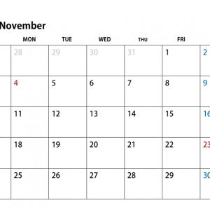 11月休館日・営業時間変更のお知らせ