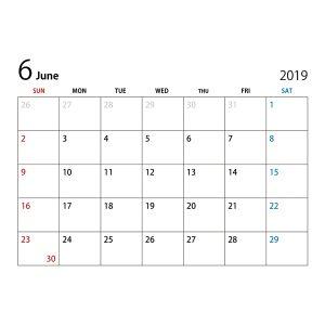 6月からの予定